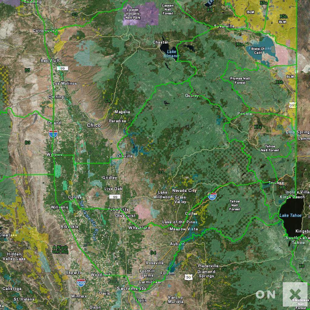 California Hunt Zone D3 Deer - California Deer Hunting Map