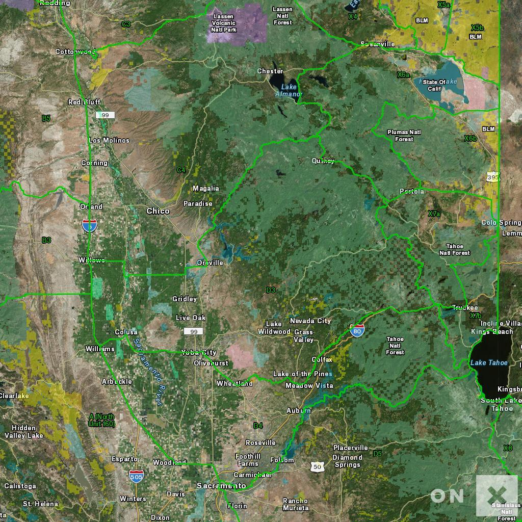 California Hunt Zone D3 Deer - Deer Hunting Zones In California Maps