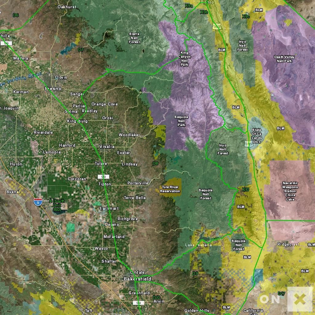 California Hunt Zone D8 Deer - California Hunting Zone Map