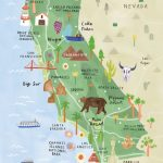California Illustrated Map – California Print – California Map – California Travel Map