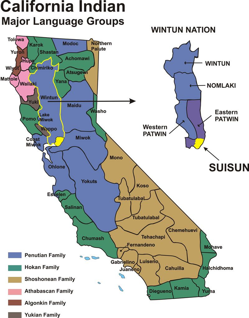 California Indians - Historical Map | Fairfield/suisun, California - California Indian Map
