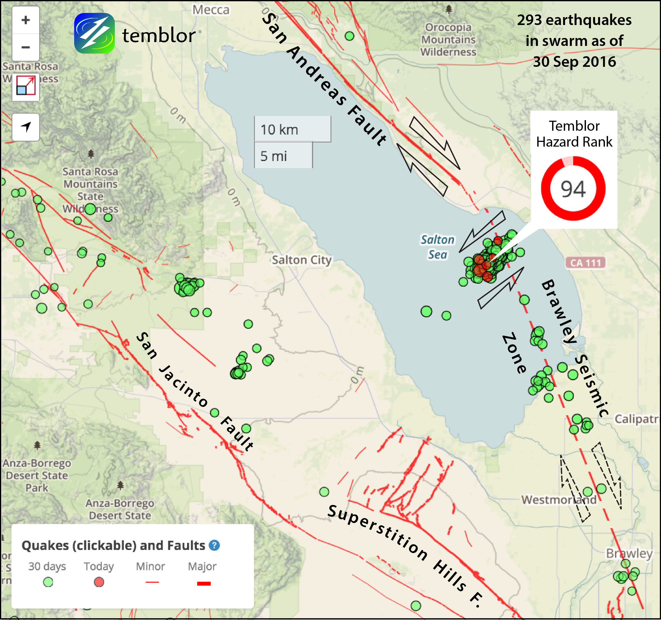 California Issues One-Week Earthquake Advisory For San Andreas Fault - Map Of The San Andreas Fault In Southern California