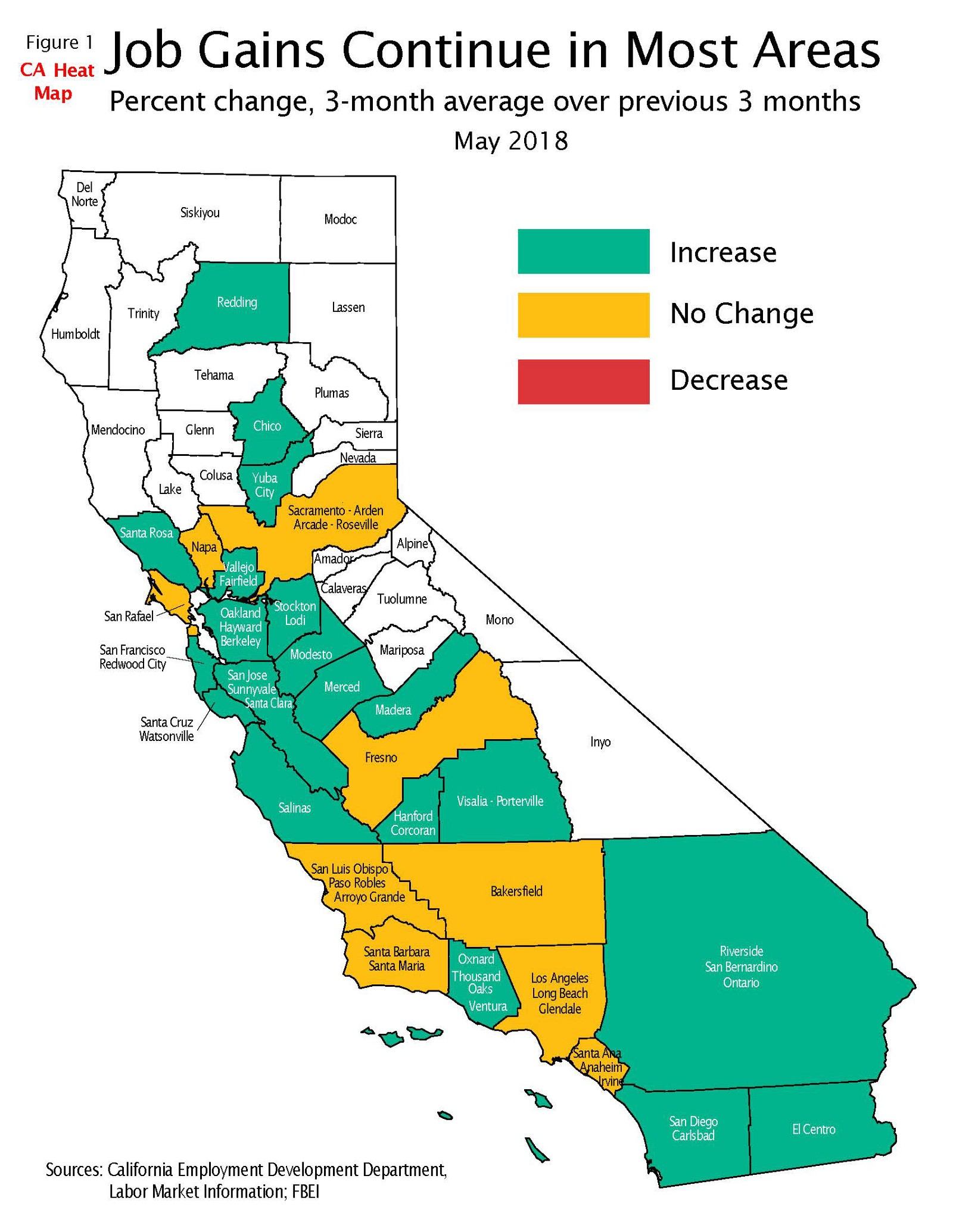 California Job Tracker-June – California State Treasurer's Office - California Heat Map