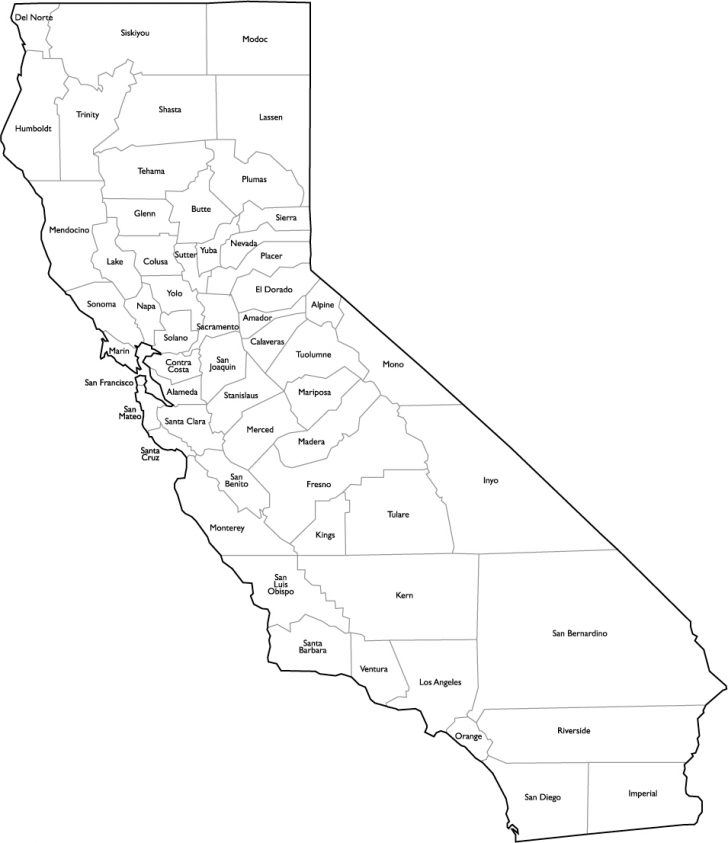 California Map Pdf