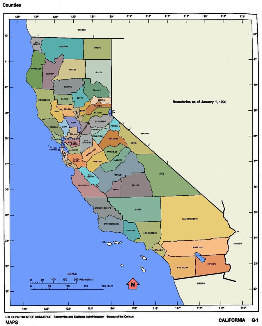 California Map Detailed Of Map Garden Grove California Map - Klipy - Where Is Garden Grove California On The Map
