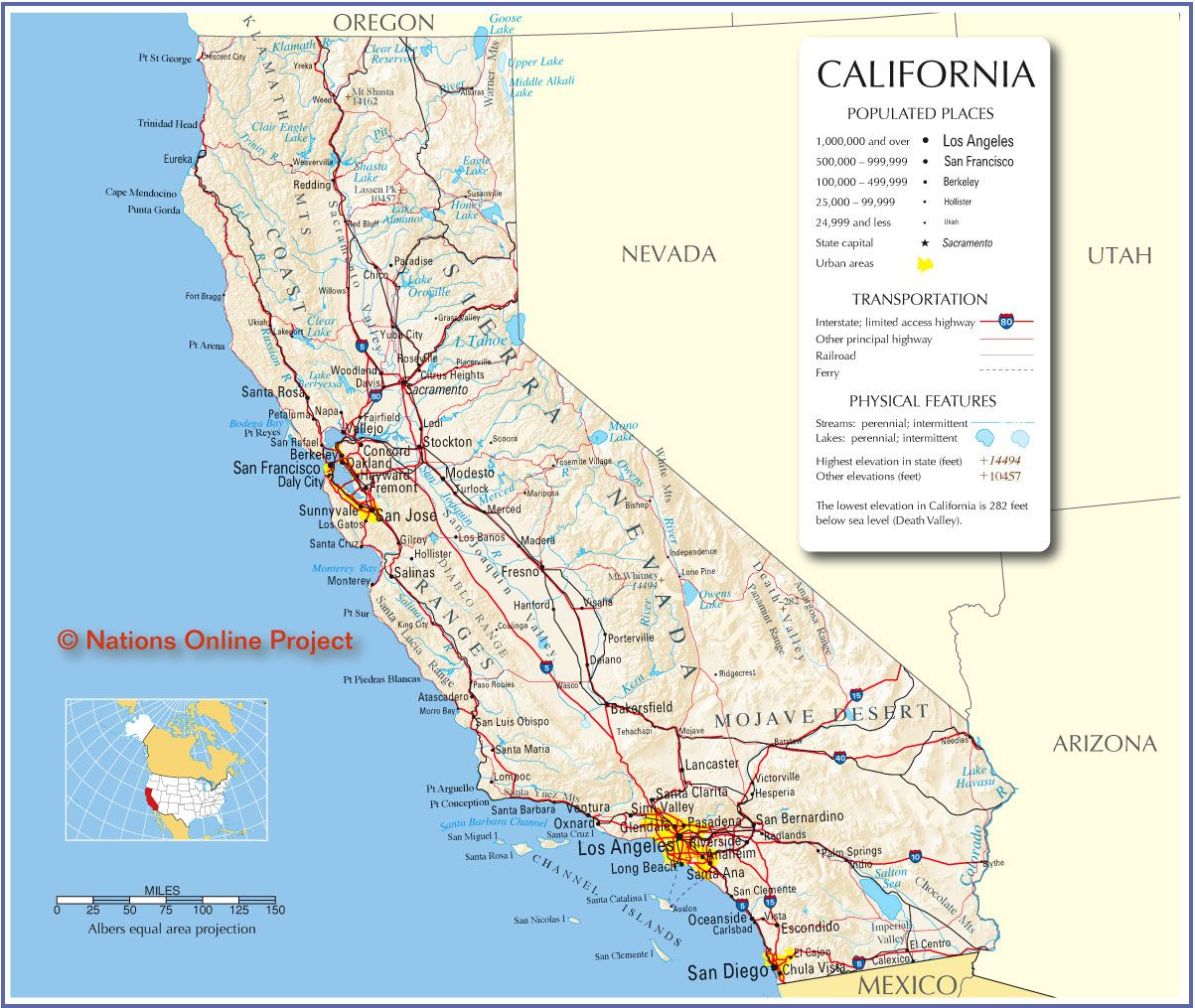 California Map - Free Large Images | Oh The Places I'd Love To Go - Free California Map