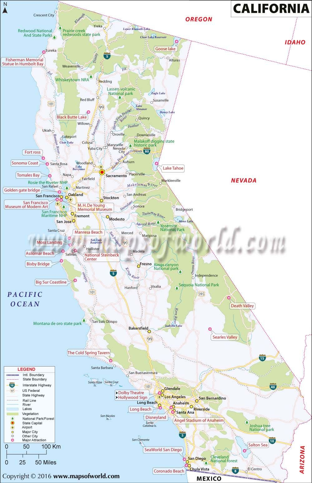 California Map | Maps | California Map, Southern California Map - Southern California Map Printable