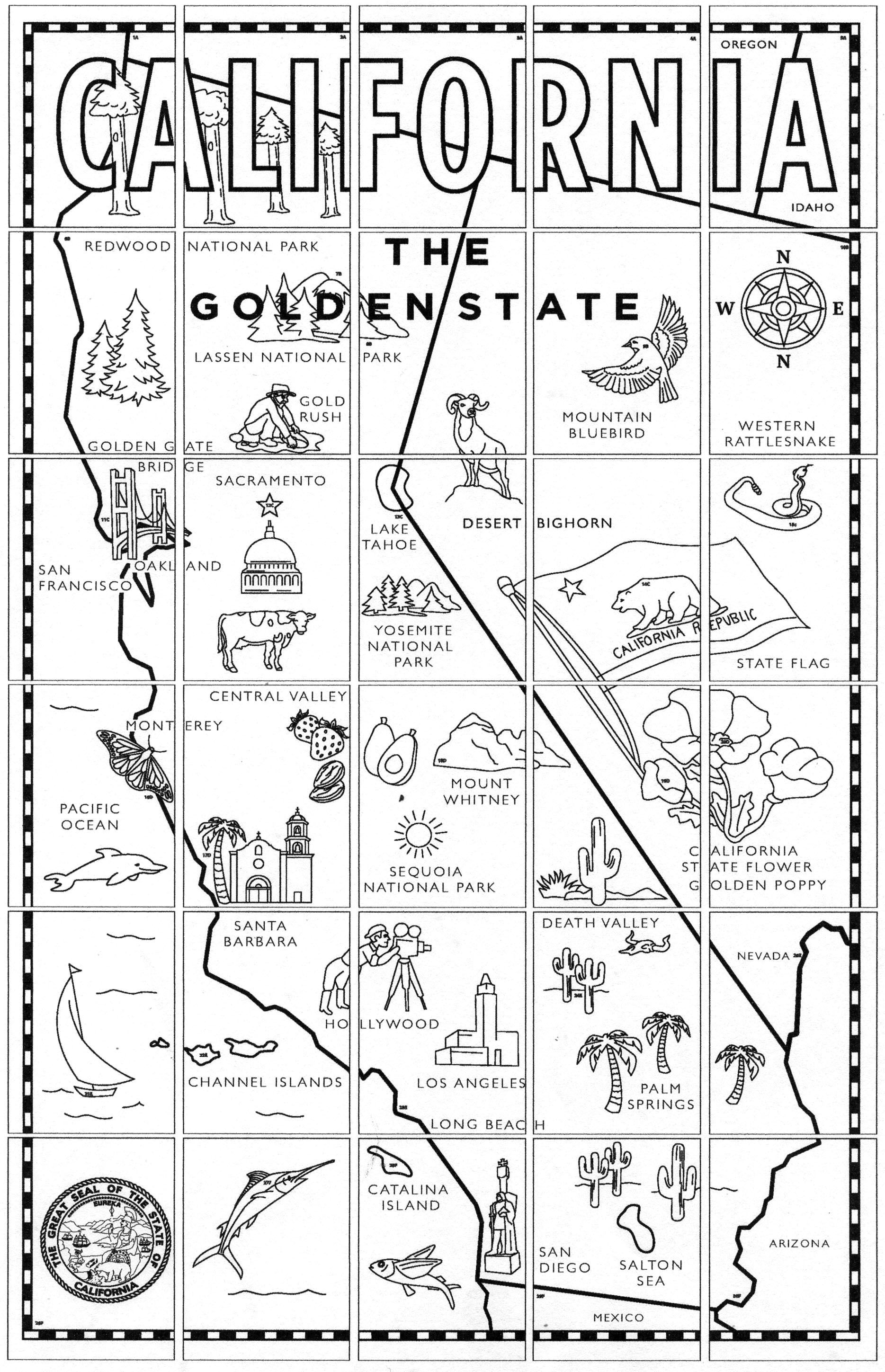 California Map Mural | End Of Year Projects | Pinterest | California - California Regions Map Printable