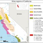 California Map Of Vineyards Wine Regions   Map Of California Wine Appellations
