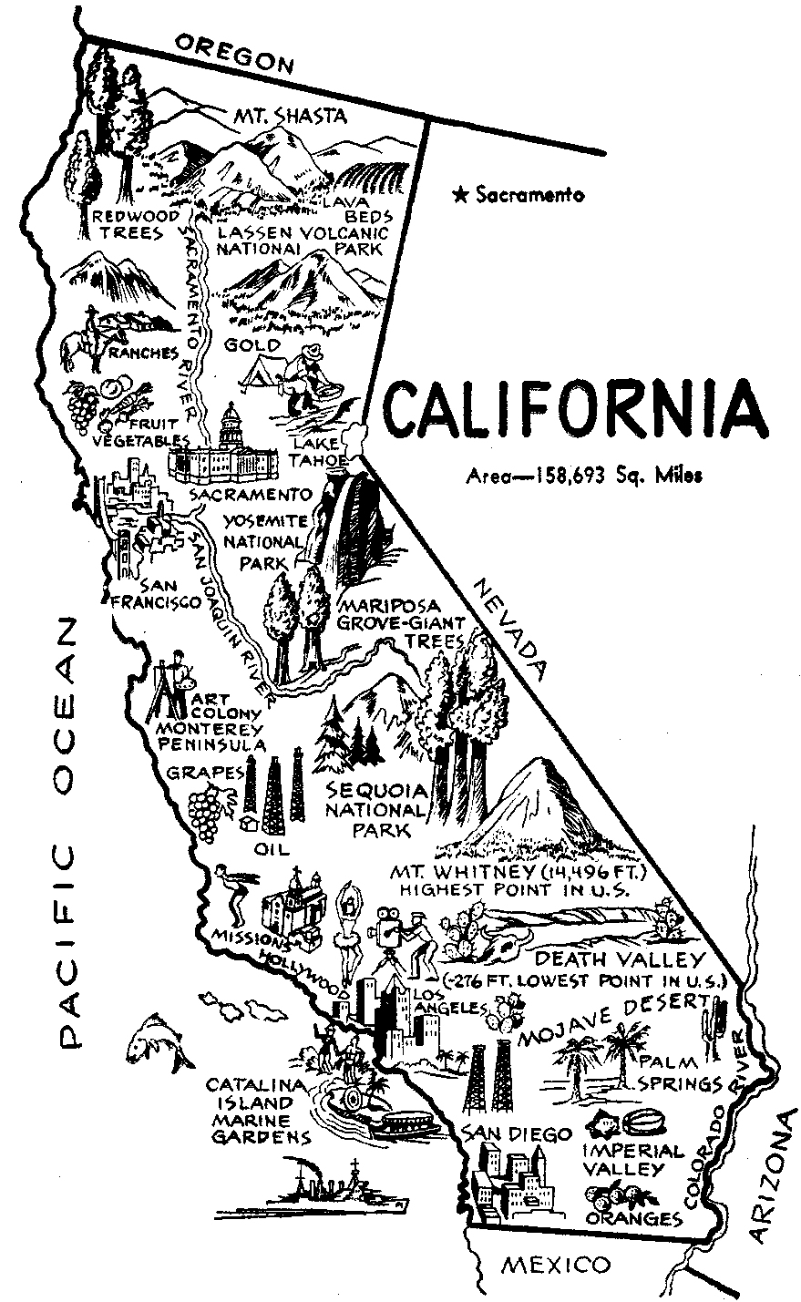 California Map Vector Free Library - Rr Collections - California Map Black And White