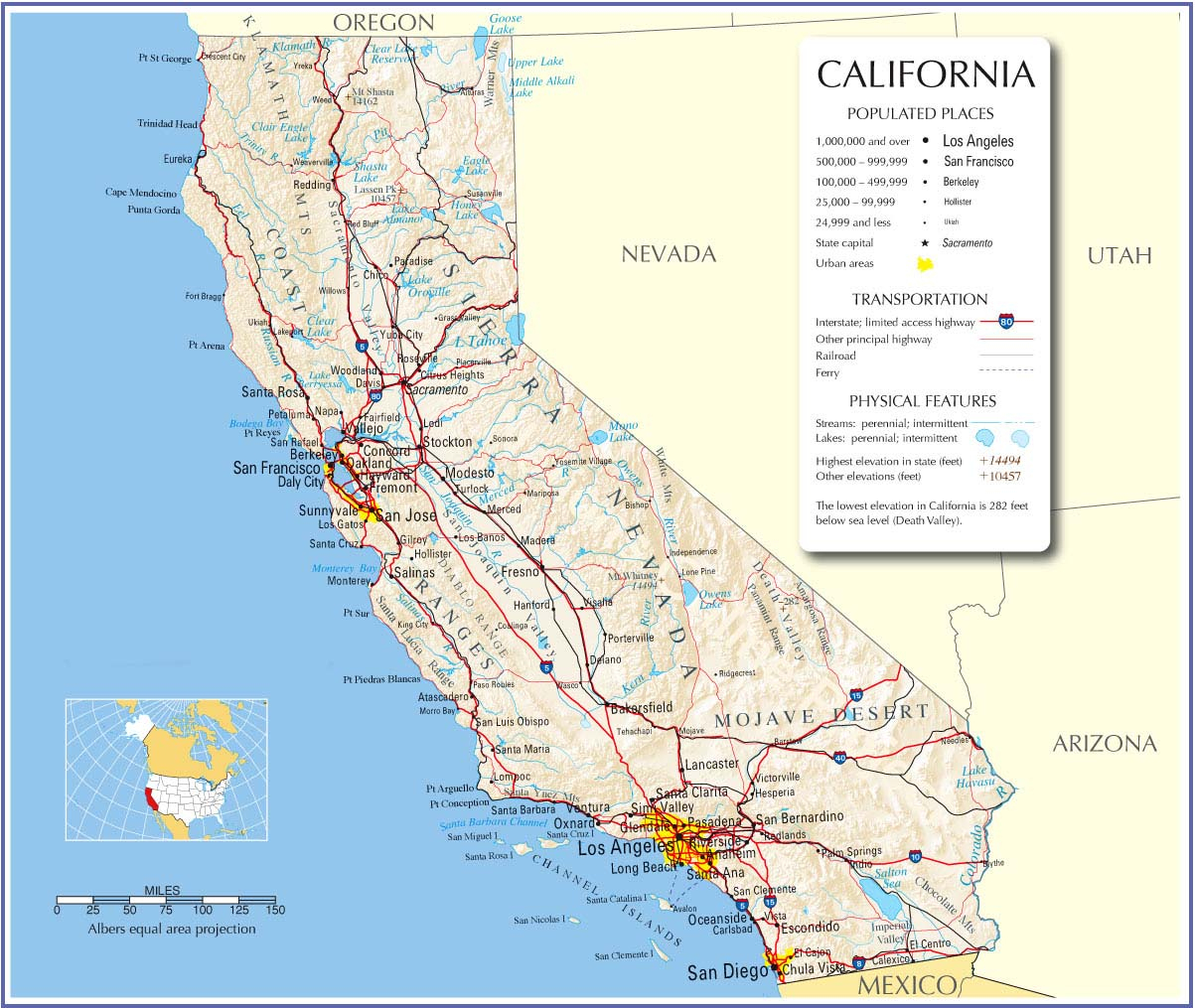 California Map,california State Map,california Road Map, Map Of - California State Map Pictures