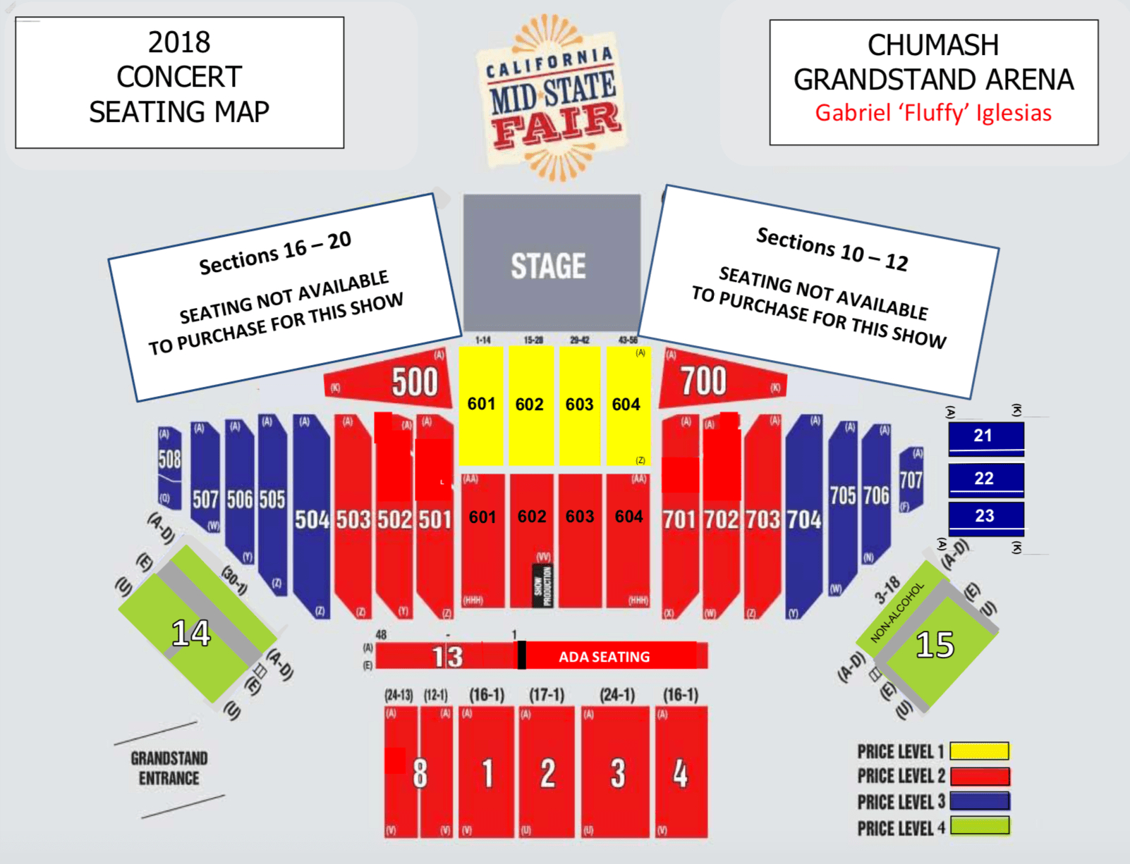 California Mid State Fair Seating Chart - Map Of California Mid State Fair