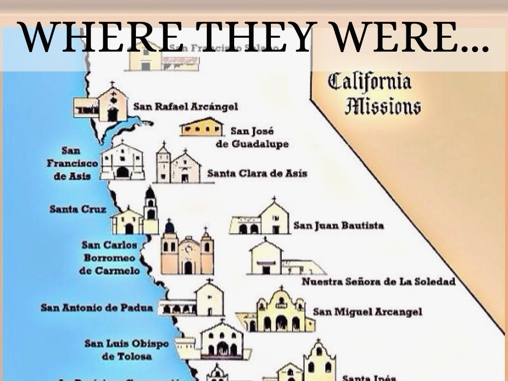 California Missions Map Of California Springs Map Of California - California Missions Map For Kids