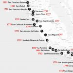 California Missions Map: Where To Find Them   Southern California Missions Map
