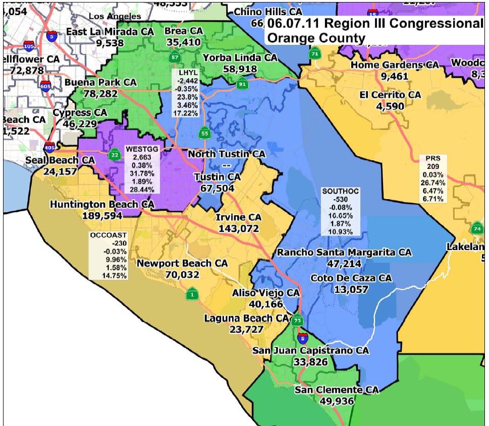 California Orange County Map - Klipy - Orange County California Map