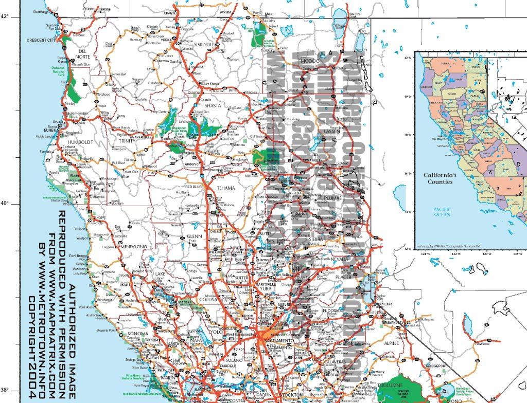 California Oregon Border Map - Klipy - California Oregon Border Map