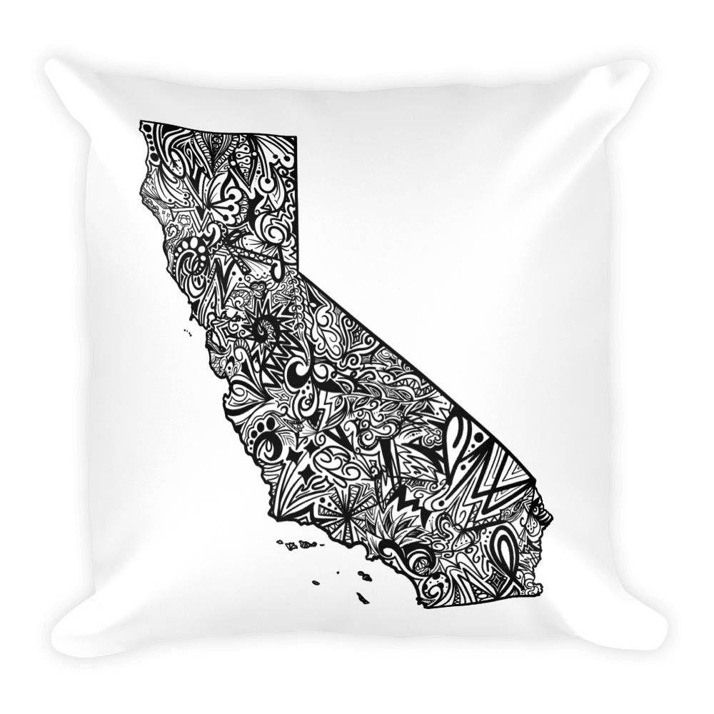 California Pillow, California State Map Pillow, California Map - California Map Pillow