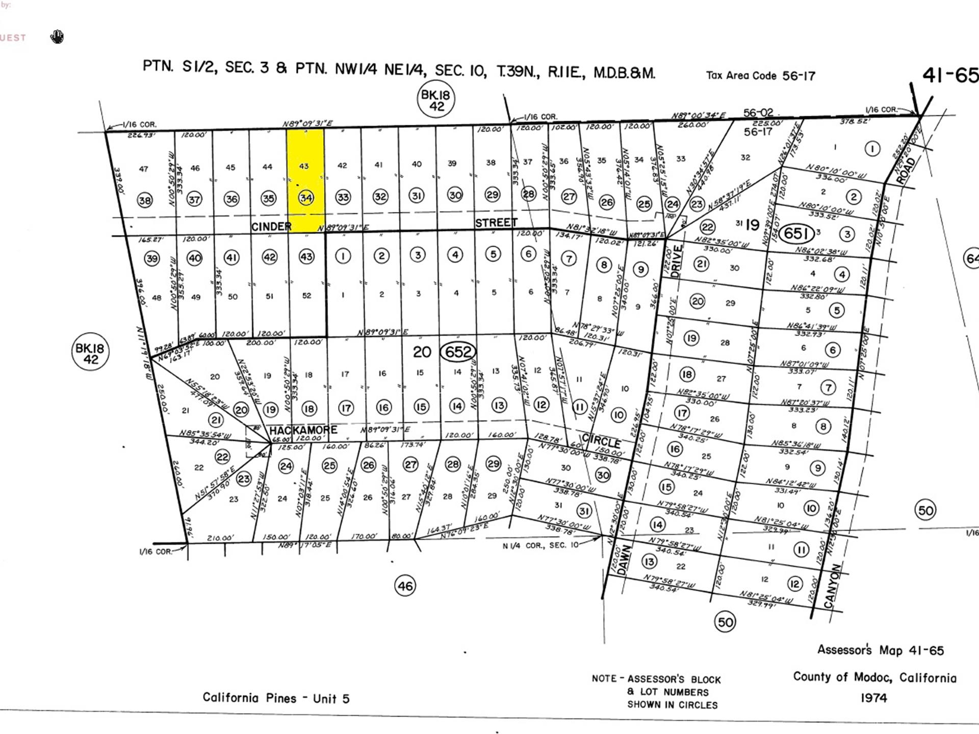 California Pines Lot In Modoc, Ca : Land For Saleowner : Alturas - California Pines Parcel Map