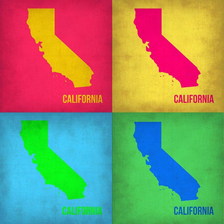 California Map Art