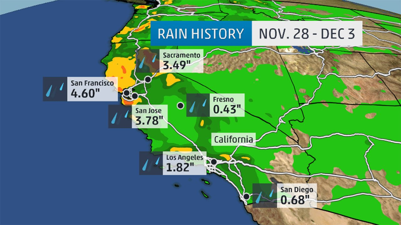California Rain, Mountain Snow: Drought Relief Limited | The Weather - California Weather Map For Today