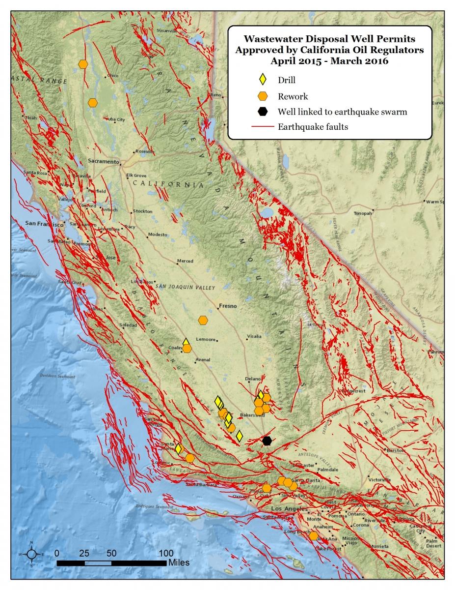 California Regulators Are Approving Fracking Wastewater Disposal - Fracking In California Map
