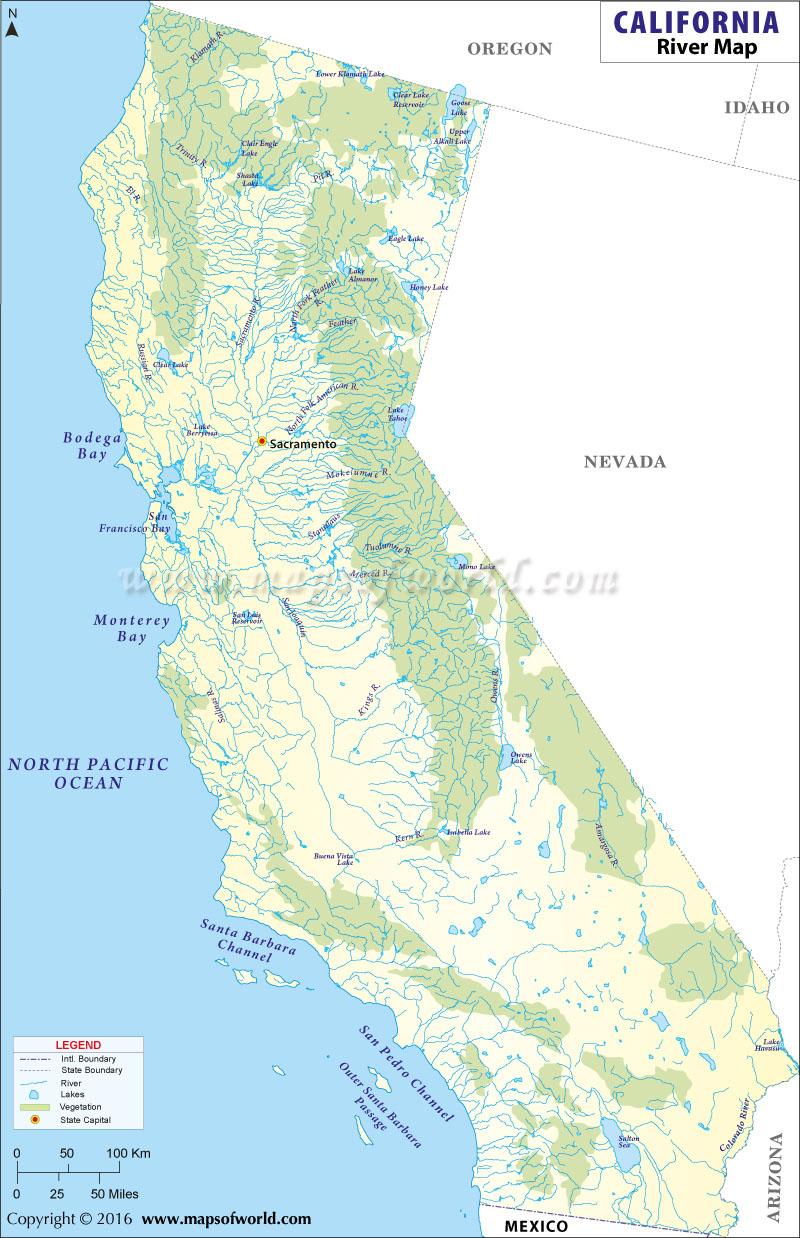 California River California River Map Southern California Rivers Map - California Rivers Map