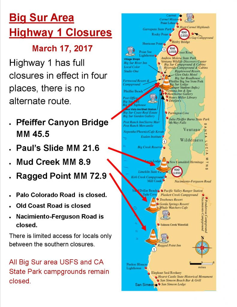 California Road Closures Map - Klipy - California Road Closures Map
