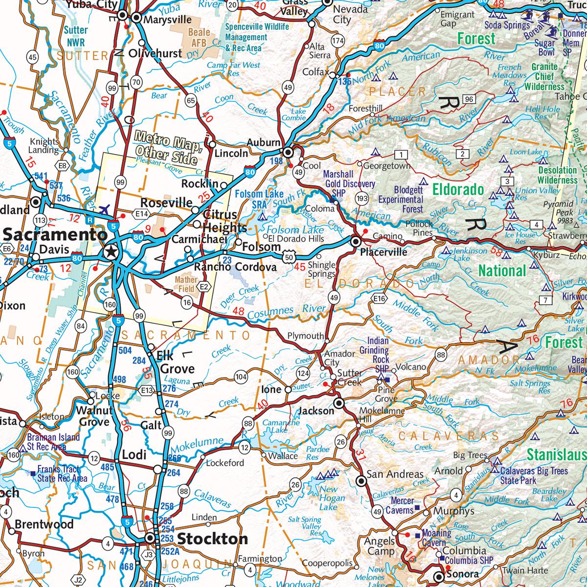 California Road Map — Benchmark Maps - California Road Atlas Map