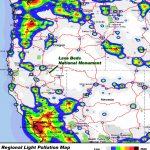 California Road Map Light Pollution Map California California Road   Dark Sky Map California