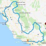 California Road Trip Itinerary California Map With Cities California   California Trip Planner Map