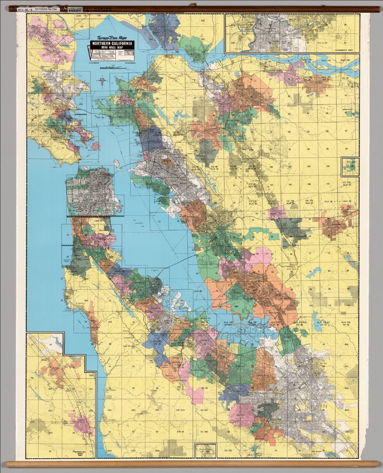 California: San Francisco Bay Cities -- Political. - David Rumsey - Northern California Wall Map