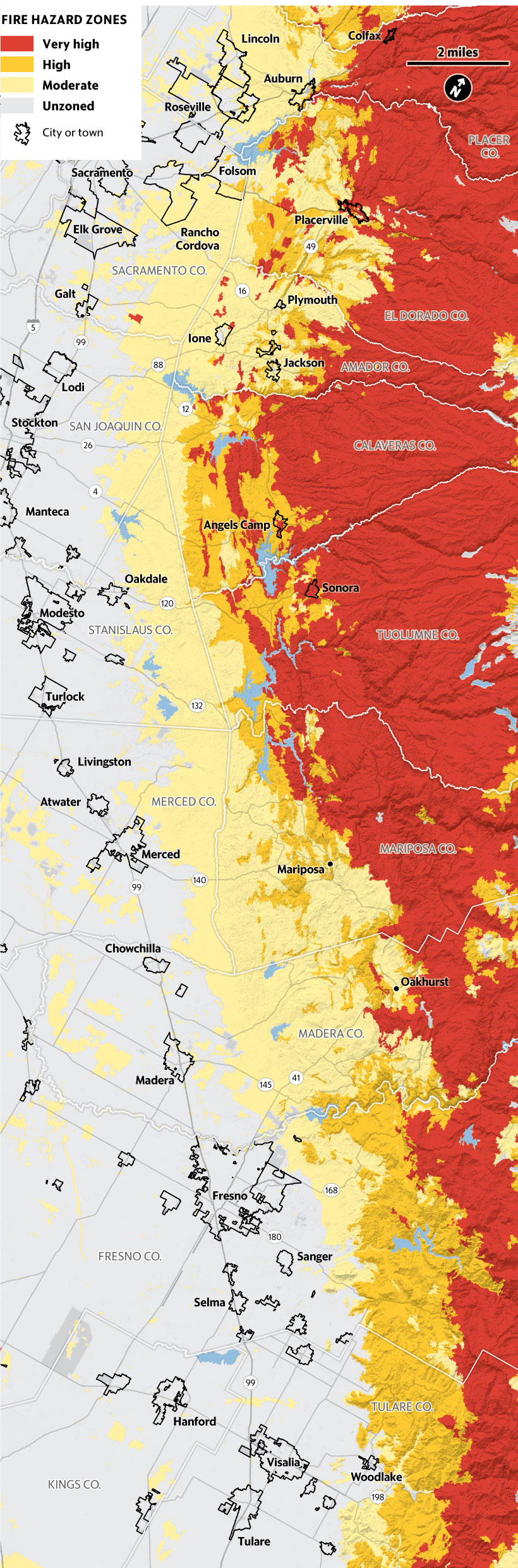California | Should Housing Be Built In High Fire Risk Areas? | The - California Wildfire Risk Map