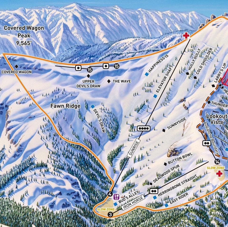 California Ski Maps | Kirkwood Ski Resort Trail Map - Kirkwood California Map