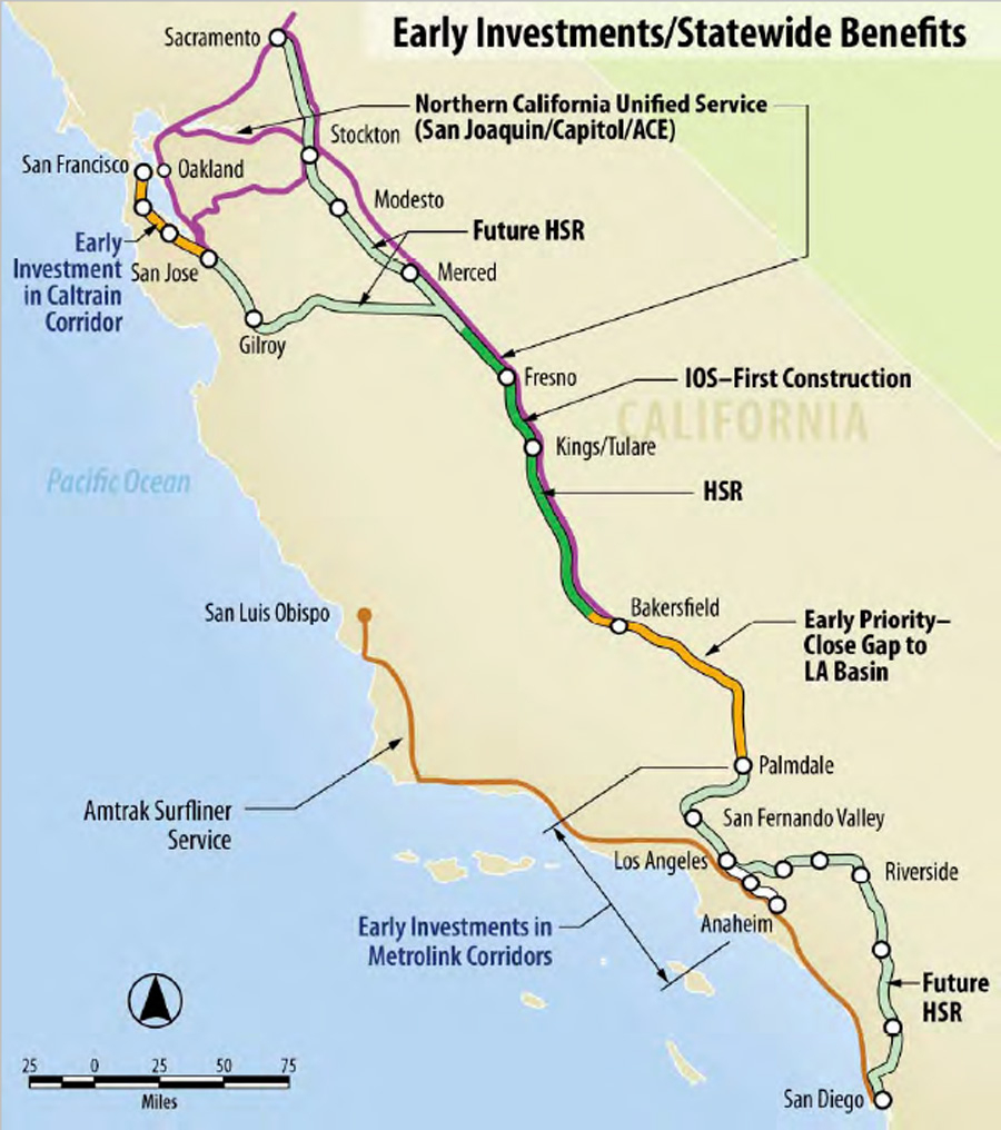 California Speed Limits Map - Klipy - Greyhound Map California