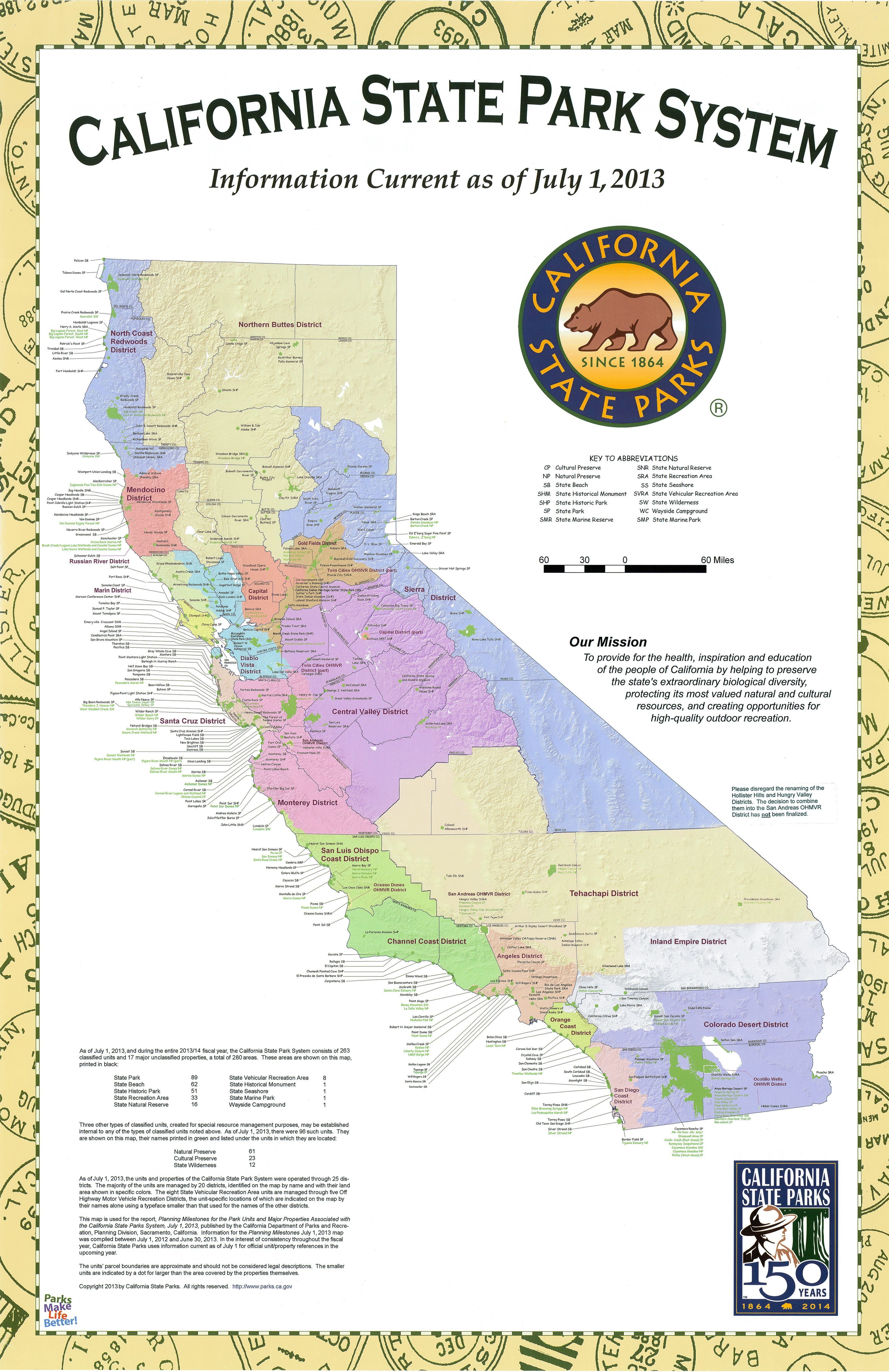 California State Campgrounds Map Printable Maps Map California Map - California State Parks Map