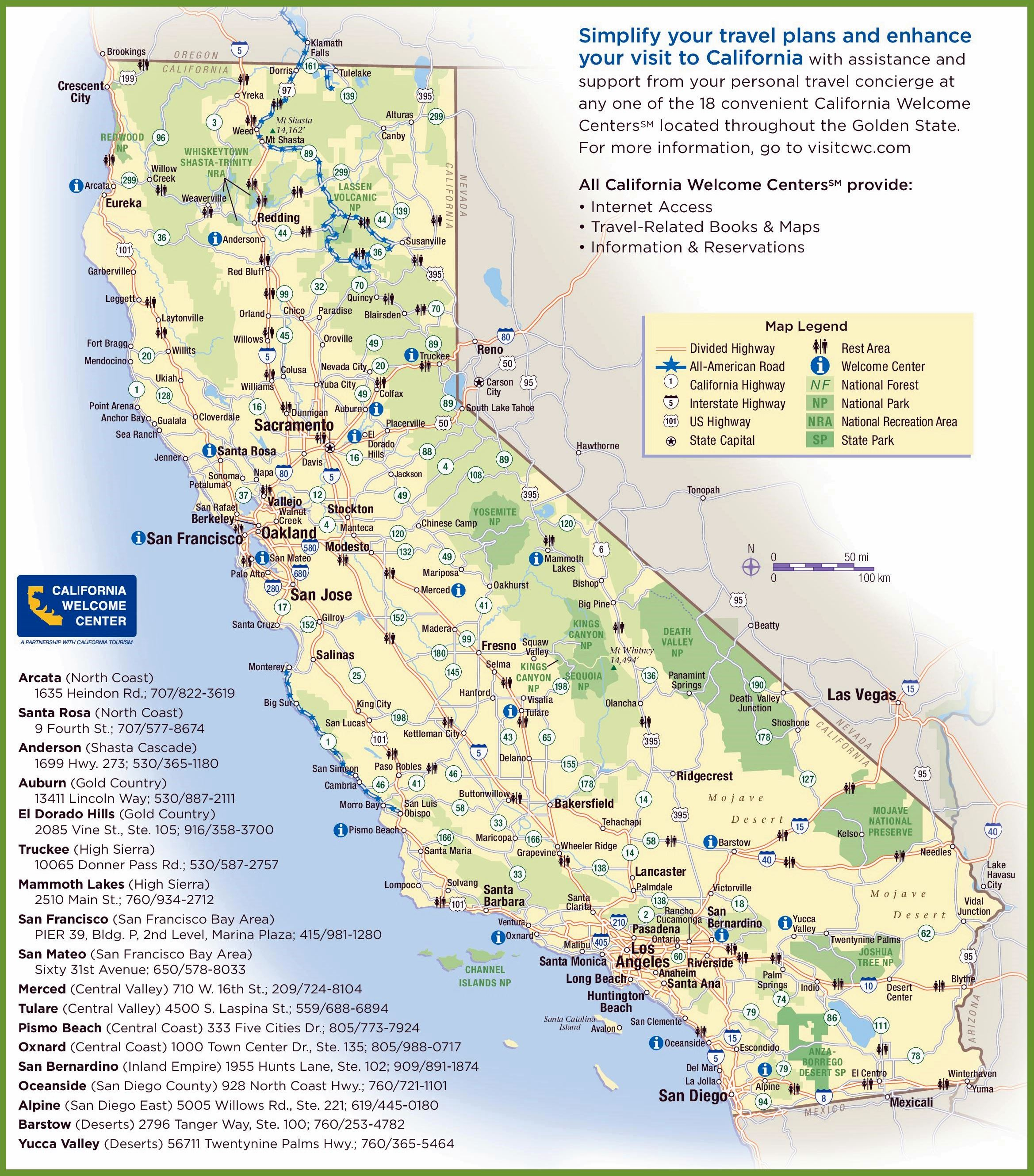 California State Map Map With Image Printable Map Of California - California State Campgrounds Map