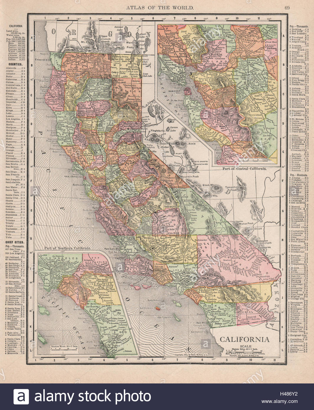 California State Map. Southern Ca & Bay Area Insets. Rand Mcnally - Rand Mcnally California Map