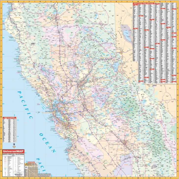 Map Of Central California
