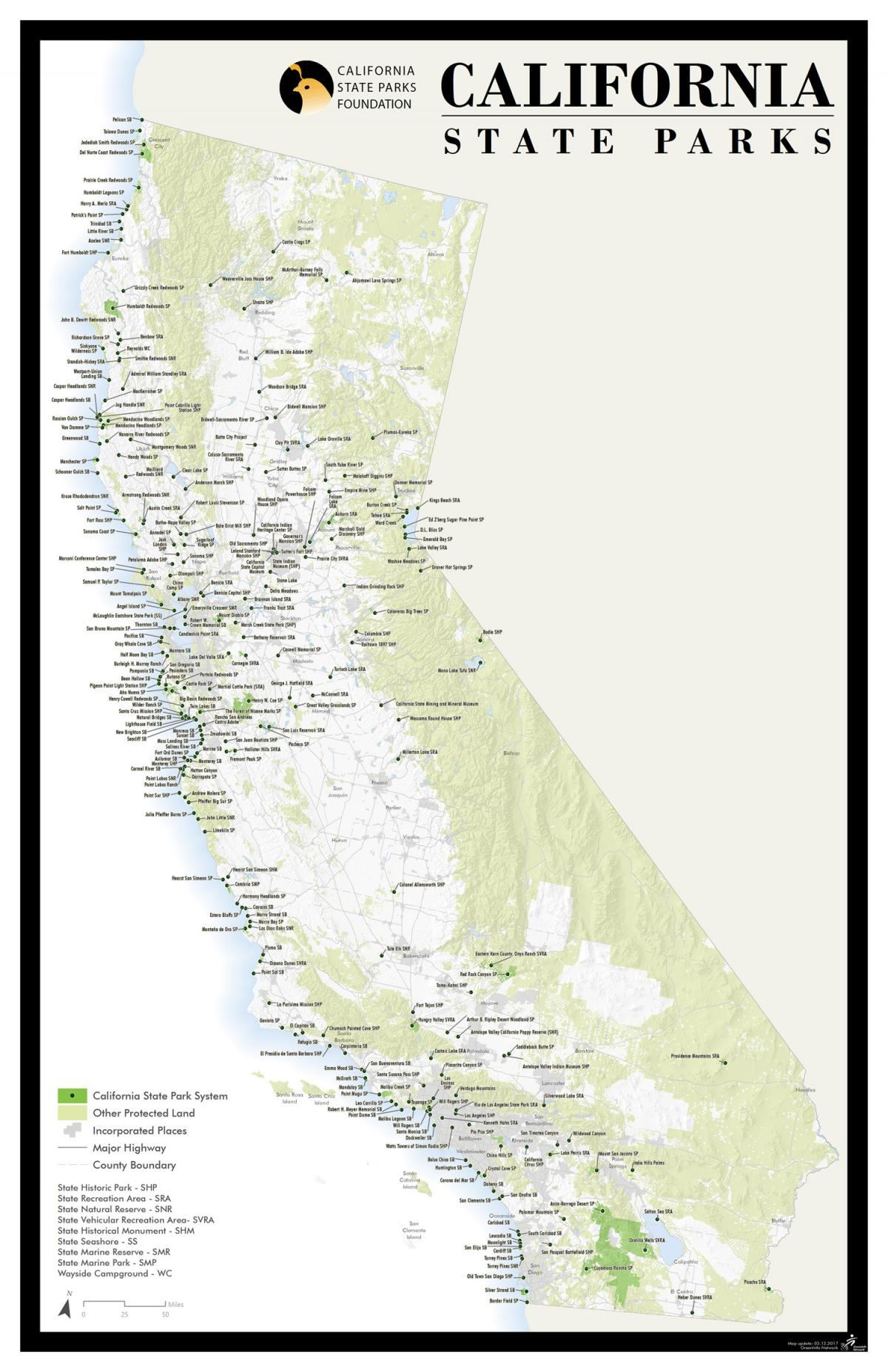 California State Park Foundation: Activities Guide - California State Parks Map