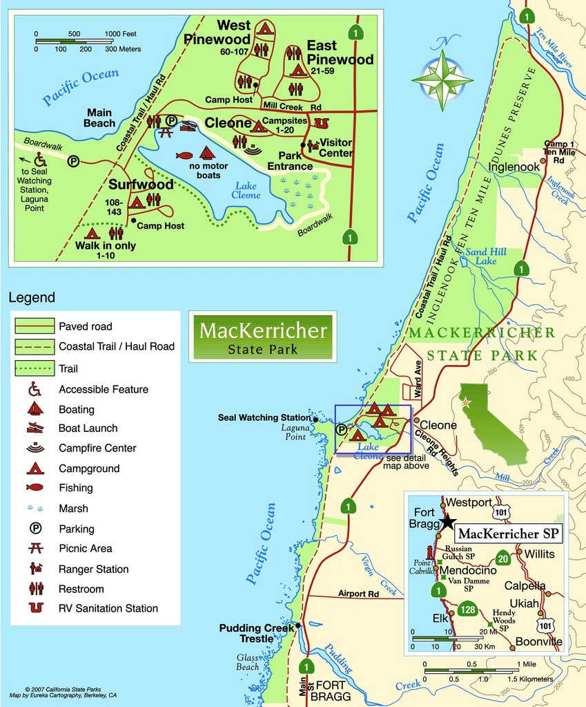 California State Parks Camping Map - Klipy - California State Parks Camping Map