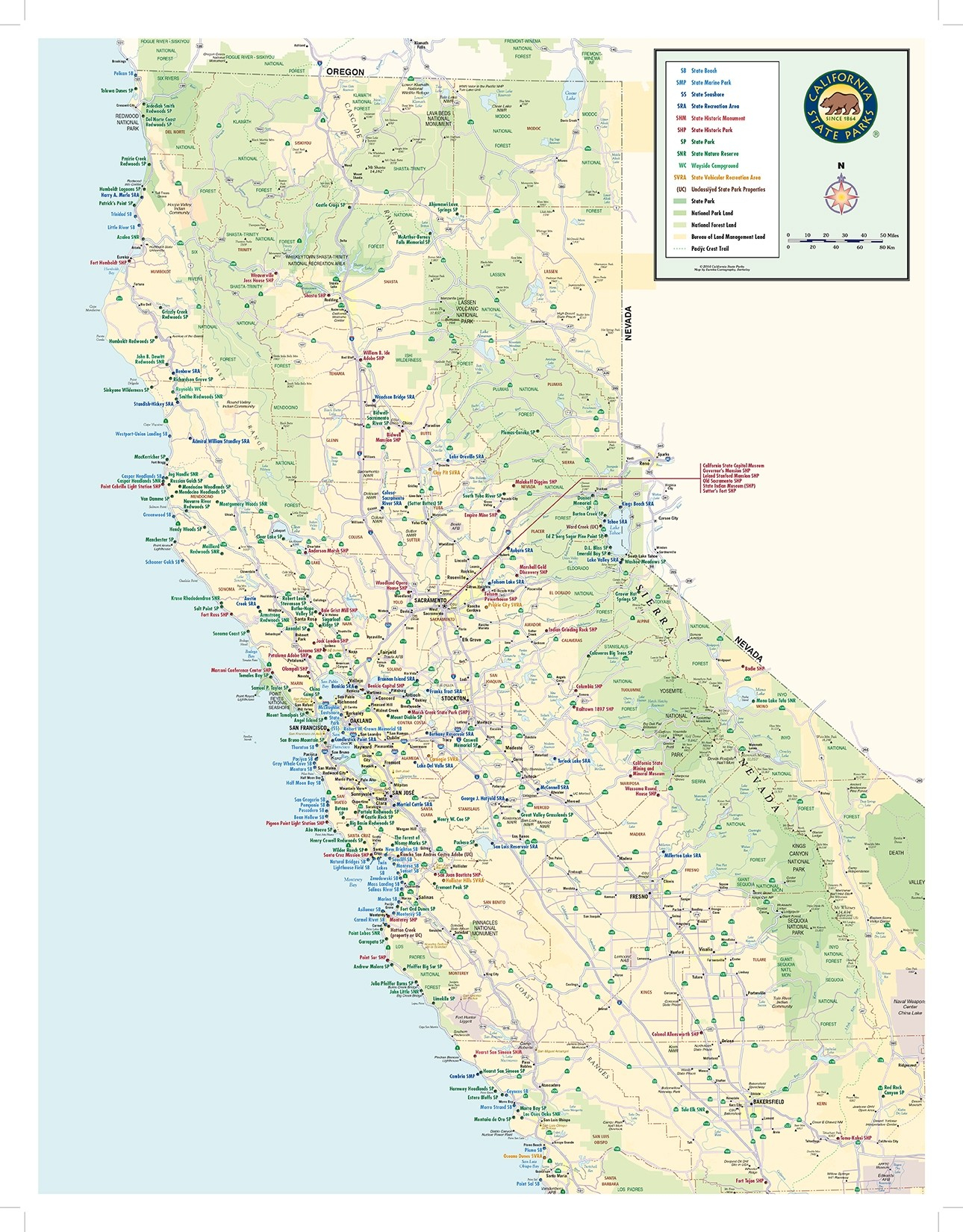 California State Parks Statewide Map - California State Parks Camping Map