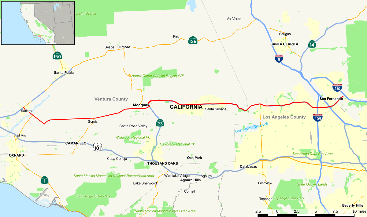 California State Route 118 - Wikipedia - Map Of California Highways And Freeways