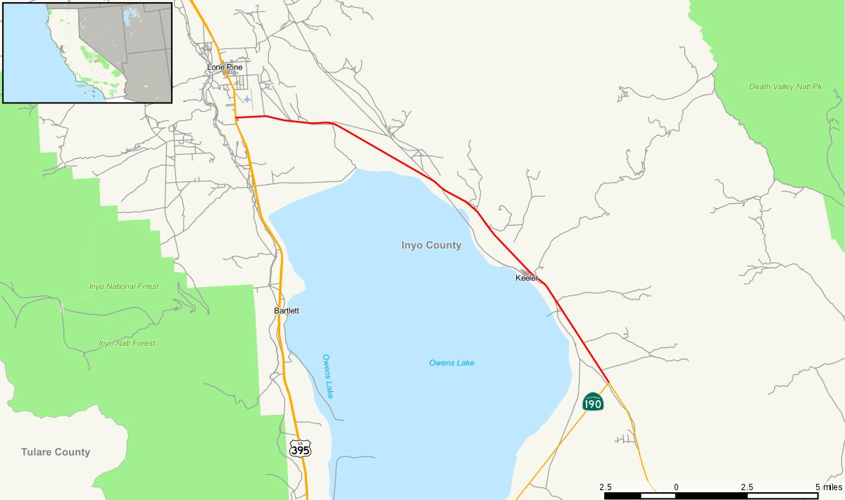 California State Route 136 - Wikipedia - Route 395 California Map