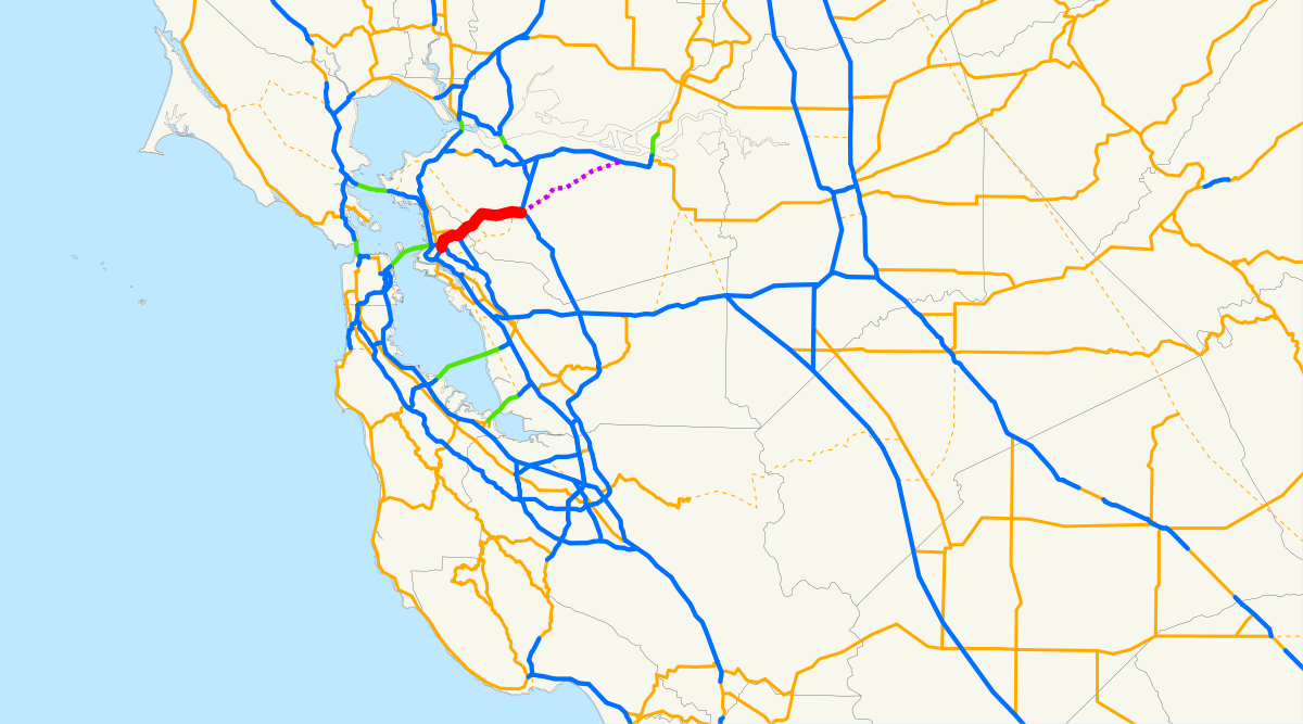 California State Route 24 - Wikipedia - California Truck Routes Map