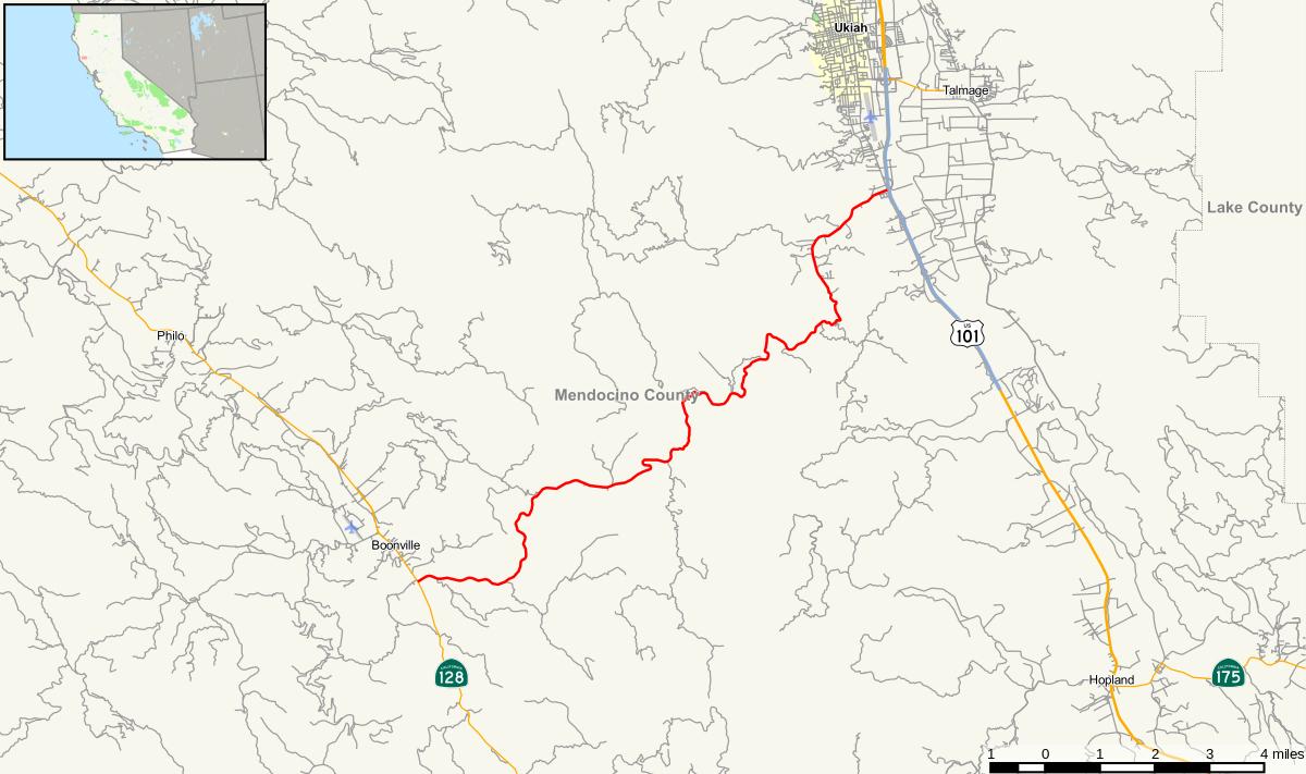 California State Route 253 - Wikipedia - Mendocino County California Map