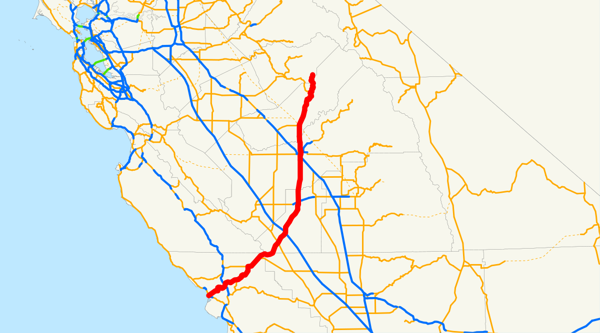 California State Route 41 - Wikipedia - Highway 41 California Map