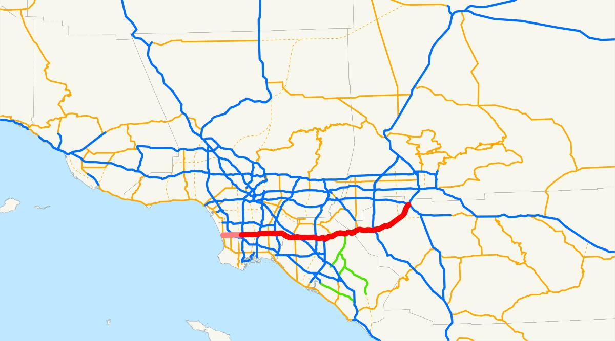 California State Route 91 - Wikipedia - Norco California Map