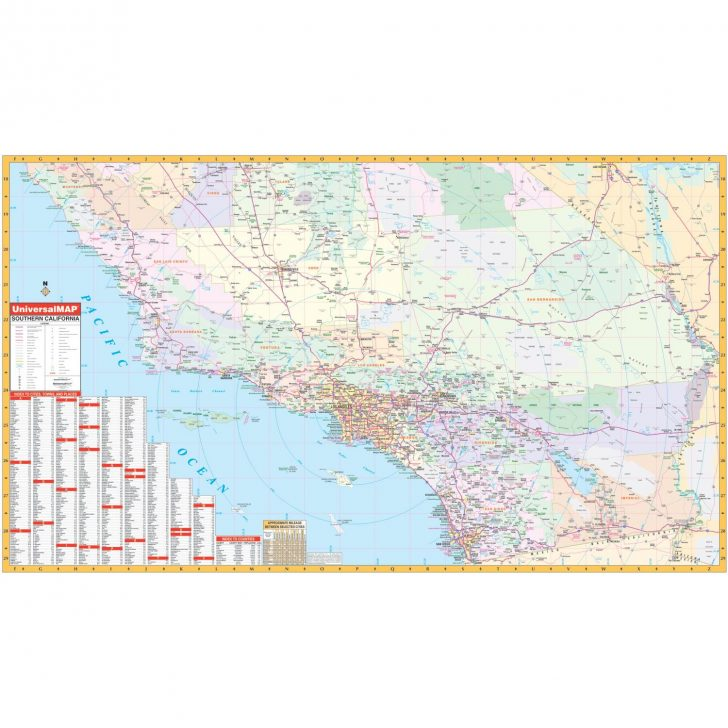 Southern California Wall Map