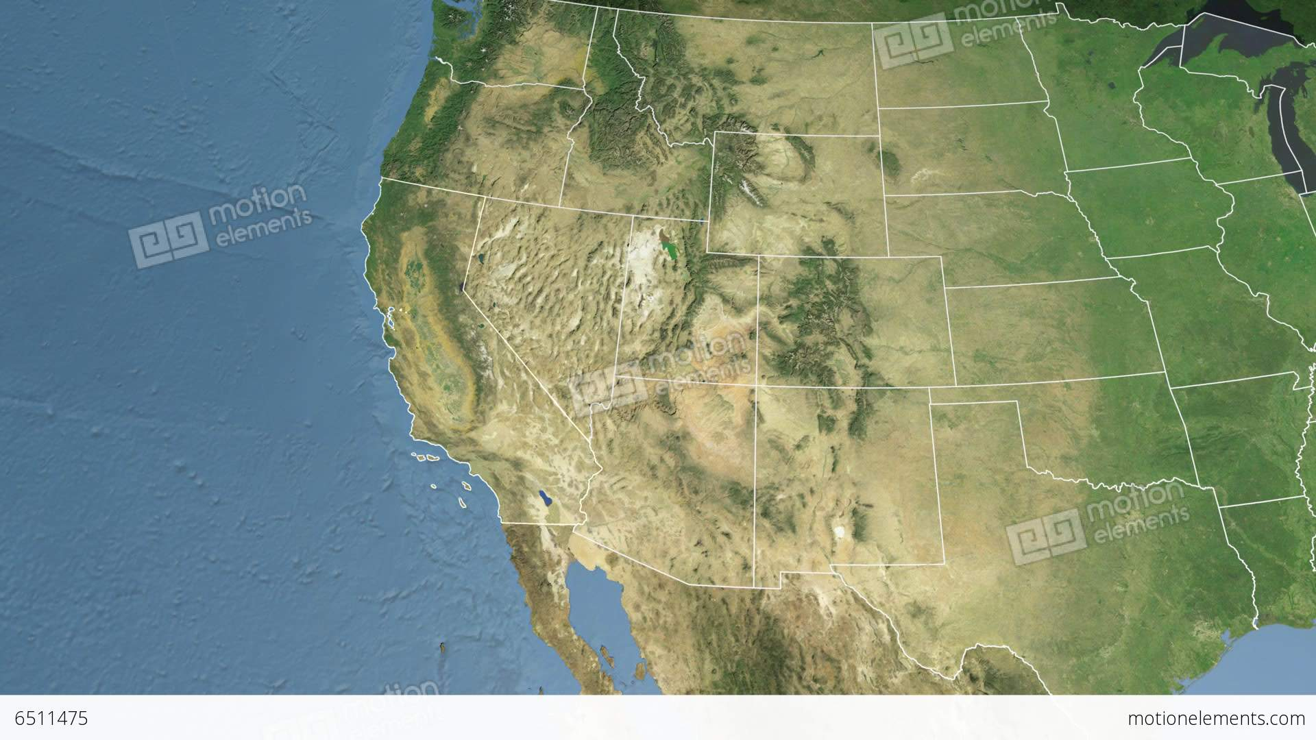 California State (Usa) Extruded. Satellite Map Stock Animation | 6511475 - California Map Satellite