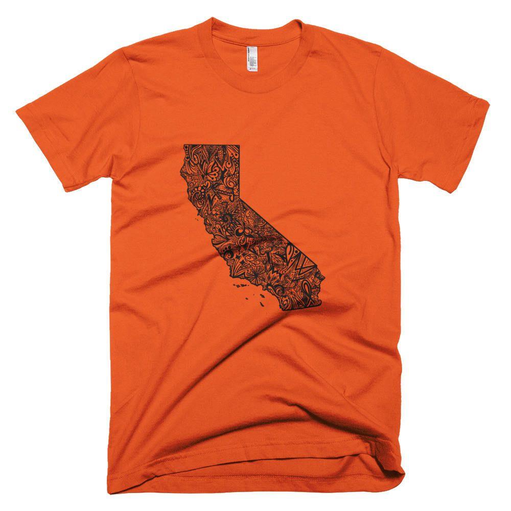California T-Shirt, California Map Tshirt, California State Map - California Map T Shirt